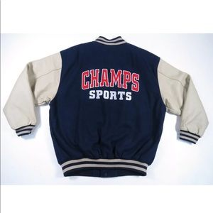 Vintage Champs Sports Wool Leather Varsity Jacket